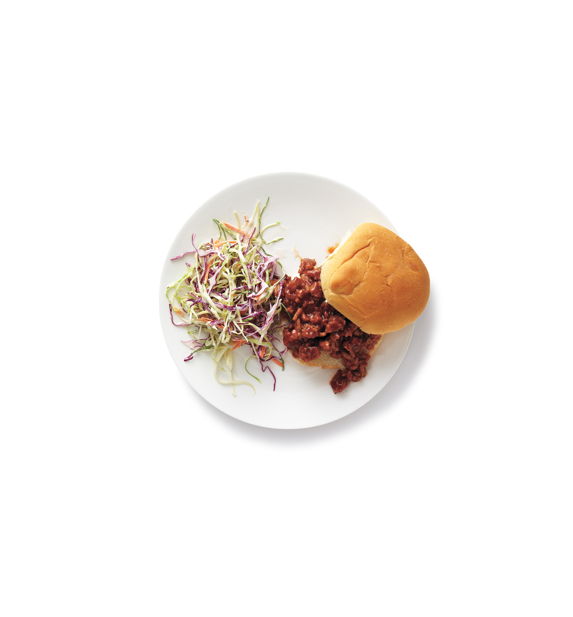 Turkey Sloppy Joes With Coleslaw, one of Real Simple's great ground turkey recipes