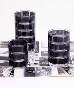 Black and white film vessels