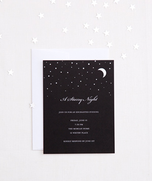 Starry night invitation