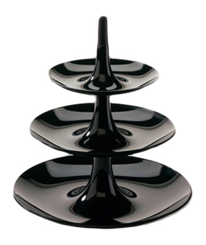 Babell Tiered Serving Tray in Black