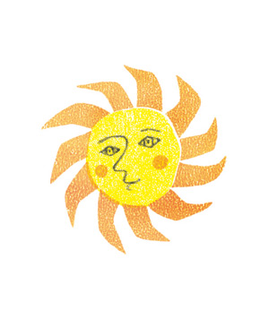 Illustration of the sun