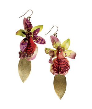 Lulu Frost Brass-and-Silk Earrings