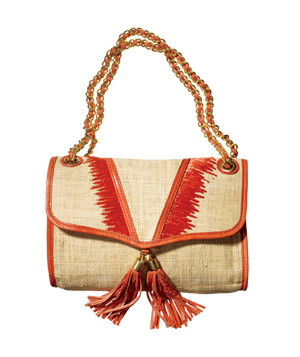 Rebecca Minkoff Raffia-and-Leather Bag