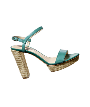 Talbots Leather-and-Rope Heels