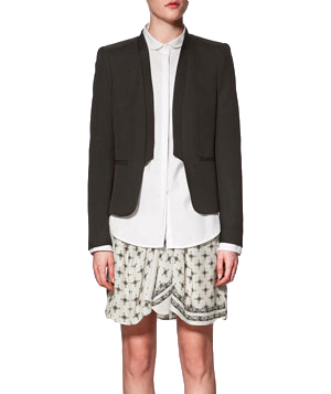 Zara Short Blazer With Pockets