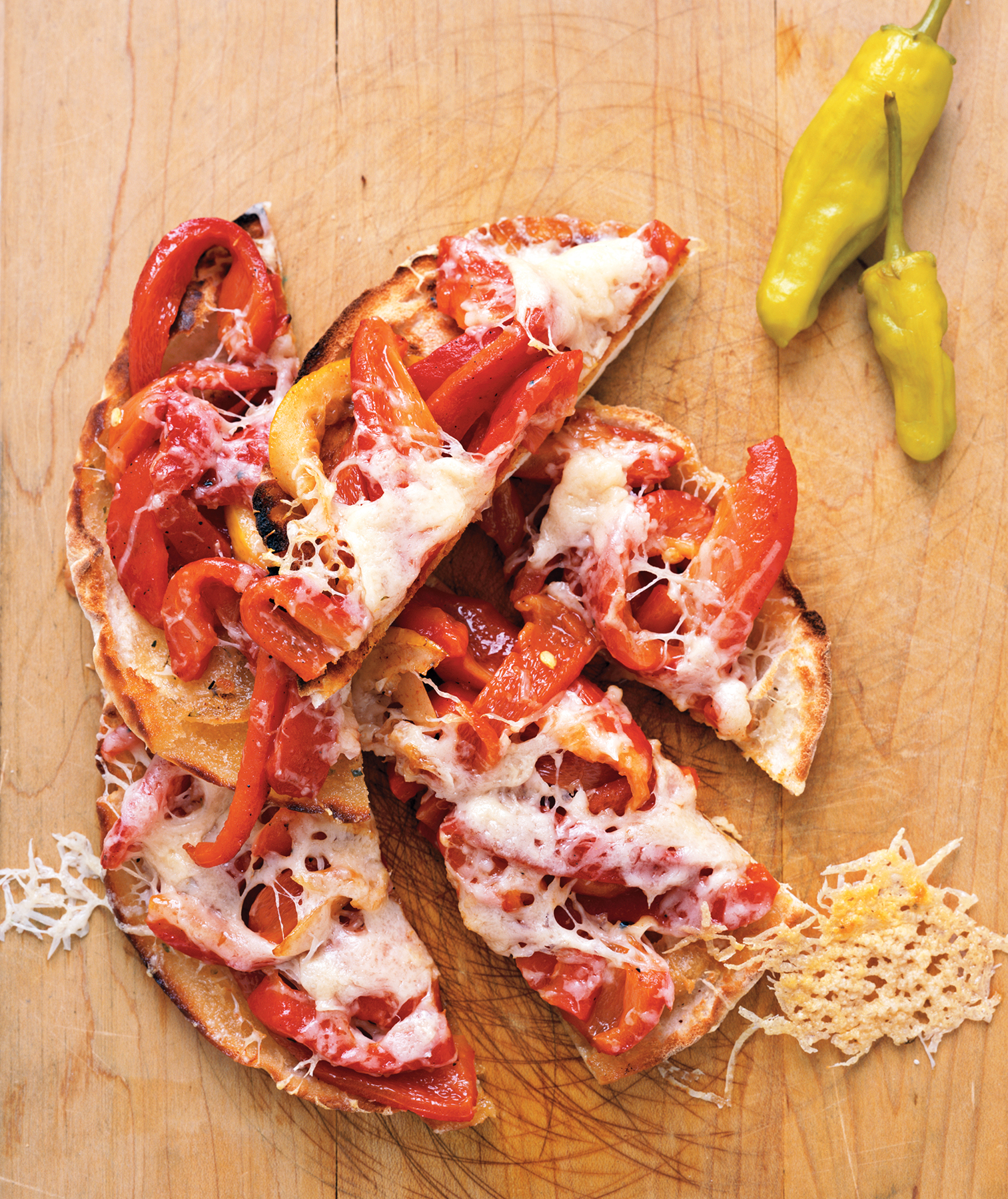 Provolone and Roasted Red Pepper Crisps