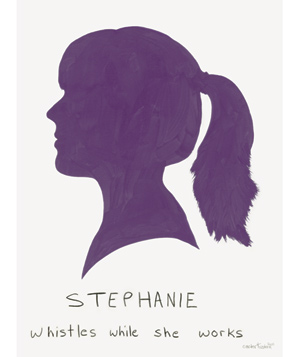 Purple silhouette of a girl named stephanie