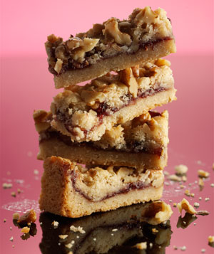Raspberry-Walnut Crumble Bars