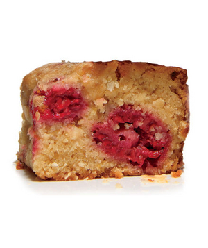 Blondies With Raspberries and Coconut