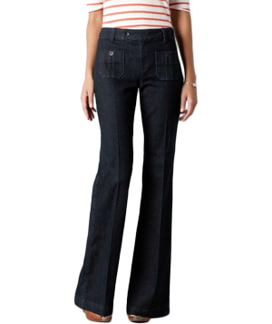 Loft Front Pocket Jeans in Dark Rinse Wash