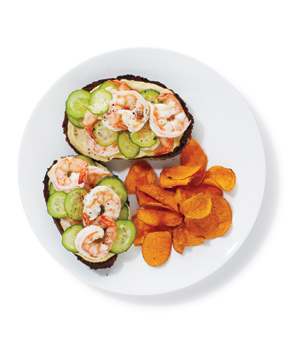Shrimp and Hummus Sandwiches, one of Real Simple's great shrimp recipes