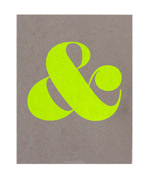Ampersand Screen Print