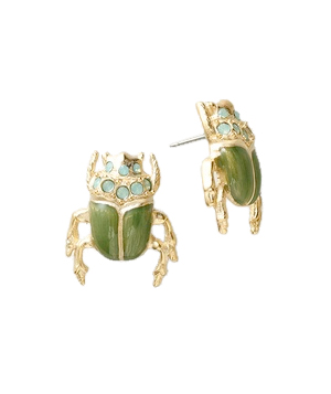 Coldwater Creek Enamel Beetle Earrings