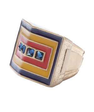 Rachel Rachel Roy Pyramid Statement Cocktail Ring