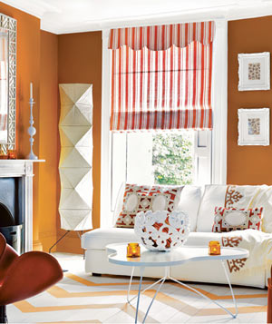 Orange Living Room Part 70