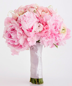 Bouquet Of Peony, Garden Rose, Sweet Pea, And Ranunculus