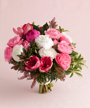 Pink Peony And Garden Rose Mix