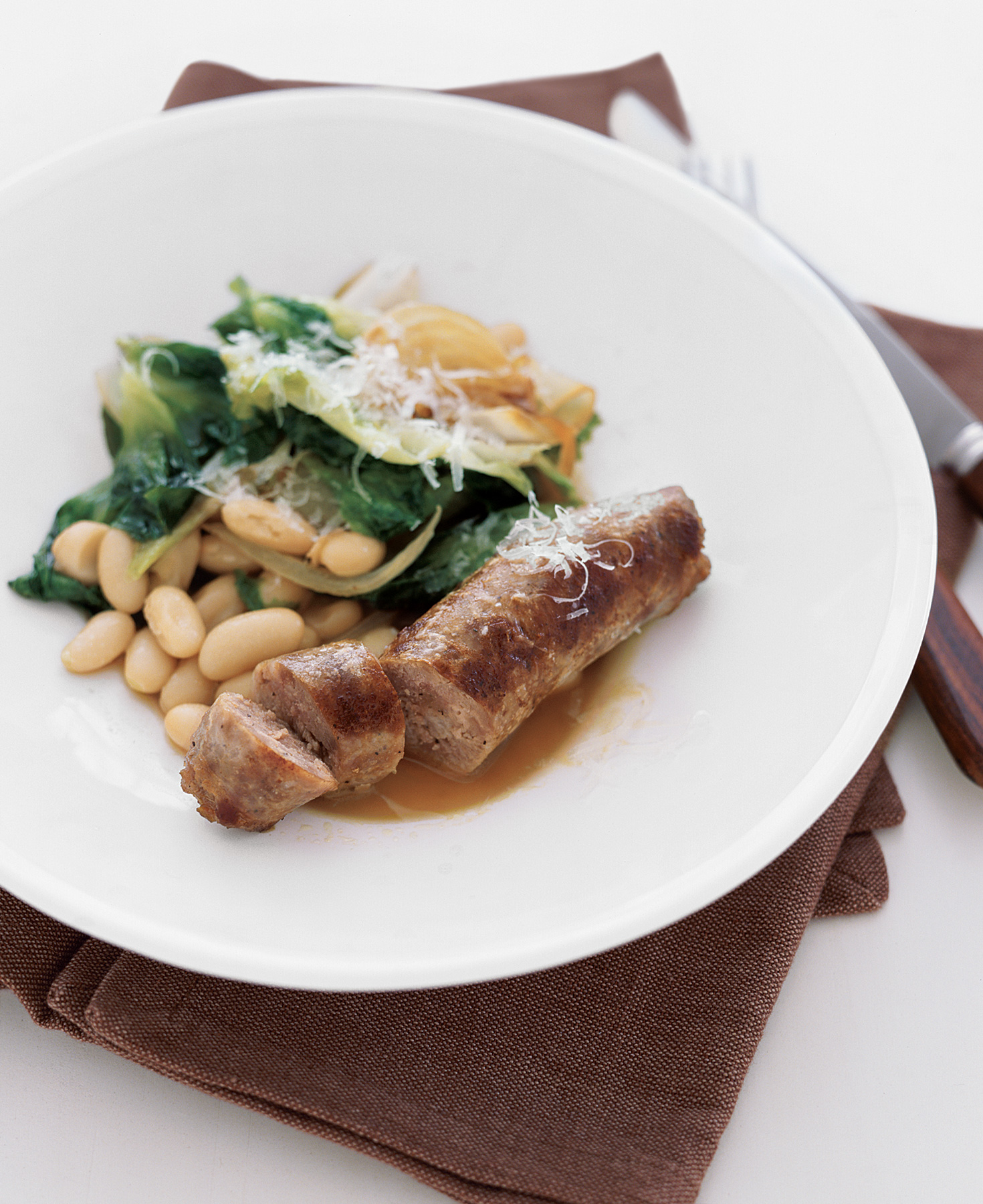 Sausage With Escarole and White Beans