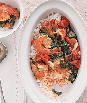 Shrimp Scampi With Spinach