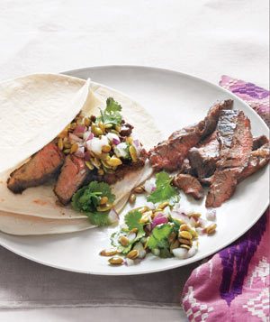 Skirt Steak With Pepita Relish