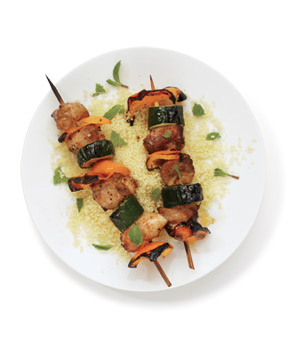 Spiced Baked Chicken Thigh Kebabs