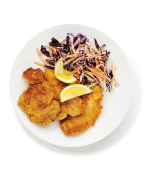 Crispy Chicken With Coleslaw