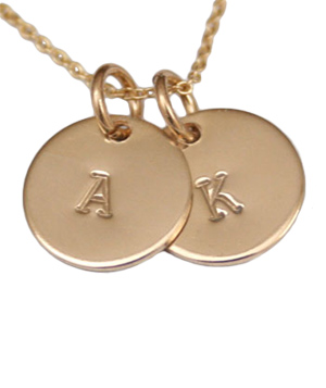 Tiny Tag Designs 2 Tag 14k Gold Filled Necklace