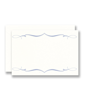 Vera Wang Cartouche Border Flat Cards