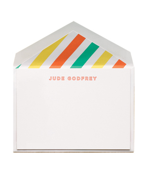 Citrus Stripe Flat Cards