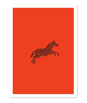 Leaping Zebra Folded Cards