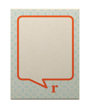 Monogram Bubble Flat Cards