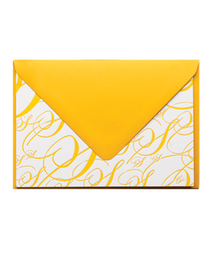 Monogram Folded Cards