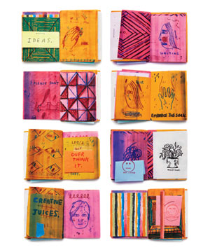 Illustrations of personal journals