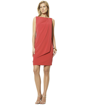 Lauren by Ralph Lauren Draped Shift Dress