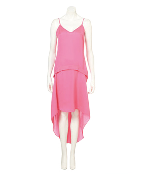 TopShop Fluro Dip Hem Dress