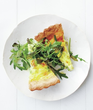 Pea, Scallion, and Gruyère Quiche