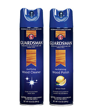 Guardsman wood cleaner and wood polish in lemon