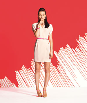 White dress neon accessories for pictures