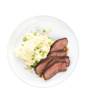 Steak With Potato-Parsnip Mash