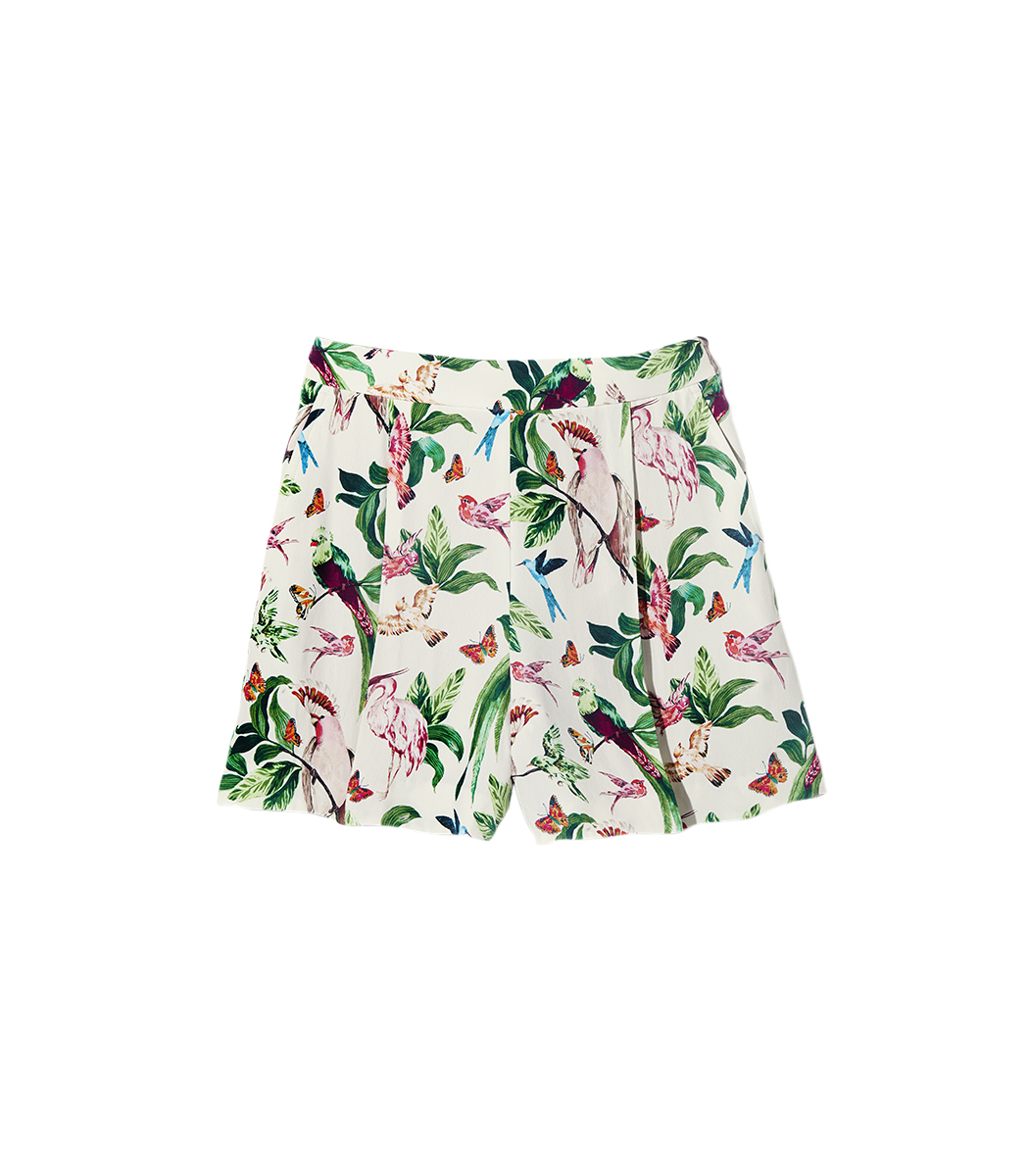 Bird of Paradise Pleated Shorts