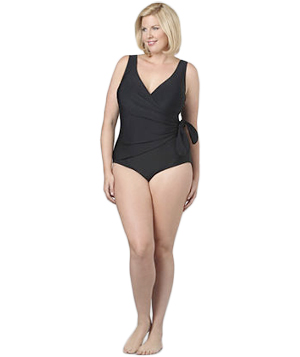 Catherines Side Wrap Draped Swimsuit