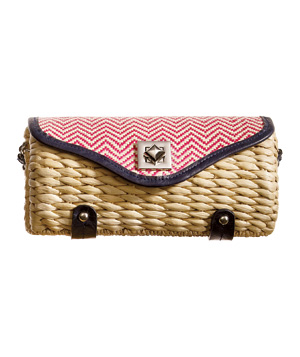 Charming Charlie Chevron-Print Clutch