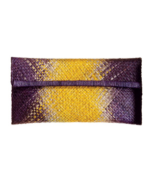 Mar Y Sol Purple-and-Yellow Clutch