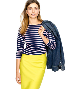 Saint James for J. Crew Three-Quarter Sleeve Tee