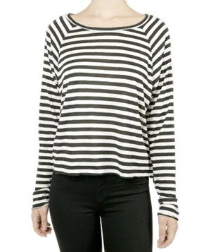 The Lady & the Sailor Raglan Striped Tee