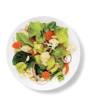 Romaine and Pickled Vegetable Salad