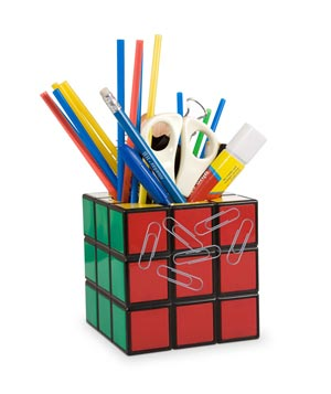 Rubik's Cube Pencil Holder