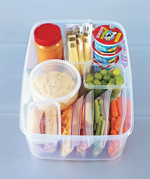 Snack container veggies