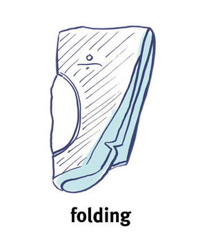 Illustration of a blazer folded in half