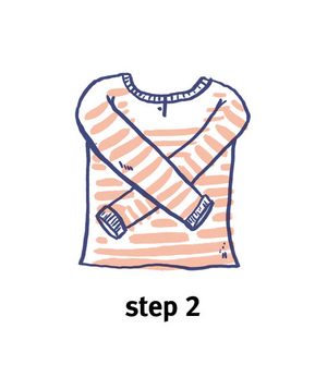 Illustration of how to roll a top, step 2